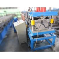 Quality 3T 4KW Ridge Cap Roll Forming Machine Hydraulic Cutting PLC Touch Screen Control wholesale