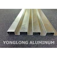 Quality RAL Colour Powder Coated Aluminium Extrusions / Curtain Wall Profile wholesale