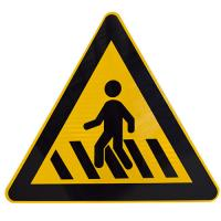 Quality Best Price Pay Attention To Pedestrians Warning traffic Sign and Symbols Supplier wholesale