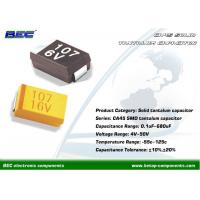 Quality CA45 RoHS Compliance SMD Solid Tantalum Capacitors with Wide Capacitance, 4V - 50V, 10% / 20% Tolerance wholesale