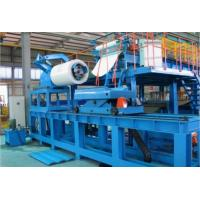 Quality Blue Color Hi Speed PU Sandwich Panel Machine , Polyurethane Sandwich Panel Manufacturing Line wholesale