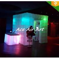 Quality rental 8ft photo booth kiosk inflatable photo booth tent for wedding party event decoration wholesale
