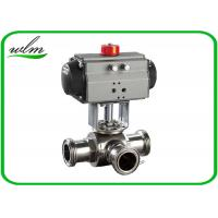 Quality Food Grade 3 Way Sanitary Ball Valves  Male / Female Thread , Floating Ball Core Structure wholesale