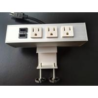 Quality Desk Mounted Power Sockets Electrical Outlet , Metal Tabletop Power Bar Receptacle wholesale