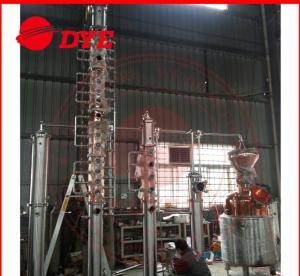 Quality Vodka / Brandy Copper Alcohol Distiller Apparatus , Home Distillery Equipment wholesale