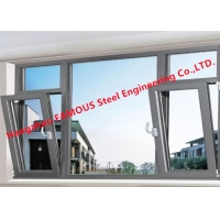 China Low-E 5mm+12A+5mm Double Tempered Clear Glass Awning Window with Operator Handle on sale