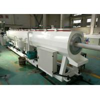 Quality Hdpe / Pvc Plastic Pipe Manufacturing Machine , Capacity 300kg / H Pvc Pipe Extrusion Machine wholesale