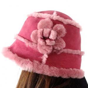 Quality Lamb Fur Ladies Sheepskin Beanie Hat Adult Plain Dyed Pattern OEM / ODM wholesale