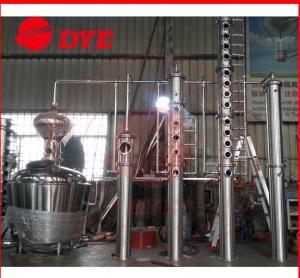 Quality 500L Copper Ethanol Distillation Column , MoonshineDistillation Equipment wholesale