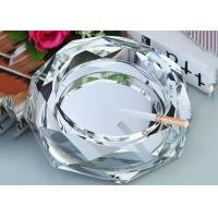 Quality Clear Crystal Home Decorations Crafts Ashtray With Cigar Holders Custom Size wholesale