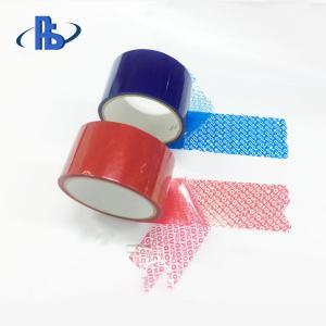 China Custom Self Adhesive Security VOID Tape , Waterproof Tamper Indicating Tape on sale
