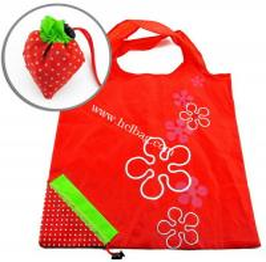 China reusable folding into strawberry shape shopping bag on sale