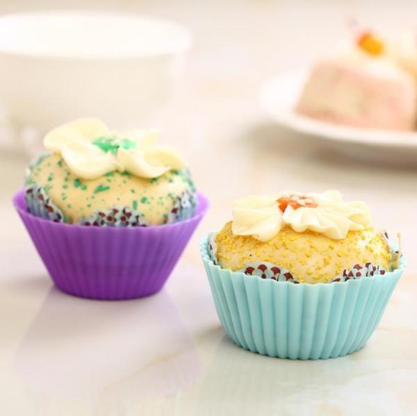 Cheap cupcake mold  Fda standard Silicone cupcake molds 12pcs/sets custom pantone color for sale