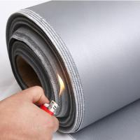 China high temperature resistant insulation colorful silicone rubber coated fiberglass cloth/fabric on sale