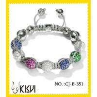 Buy cheap 2012 hot selling colorful 10mm handmade beaded bracelets with shiney beads from wholesalers
