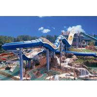 Quality 400 Riders Capacity Rafting Spiral Water Slide For Amusement Park wholesale