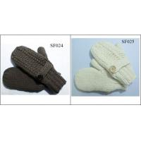 Buy cheap girls' beautiful style acrylic mitten SF024-SF025 high quality children mittens from wholesalers