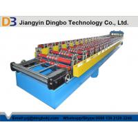 Quality Corrugated Roofing Sheet Roll Forming Machine With Hydraulic Cutting Touch Screen wholesale