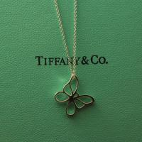 Quality Wholesale new arrrival 925 sterling silver t-iffany butterfly pendant designer necklace wholesale