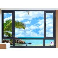 Quality Vertical Opening Pattern Aluminum Casement Windows With Security System wholesale