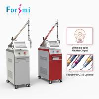 Quality Professional hot sale CE approved 10Hz 1064nm 532nm q-switched nd yag laser machine for tattoo removal equipment wholesale