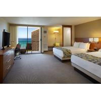 Quality Hotel Room Furniture Oak wood Double bedroom Queen size Bed with Grand TV cabinets and Wardrobe Closet wholesale