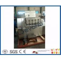 Quality 22kw Power Industrial Dairy Processing Plant High Pressure Homogenization Machine wholesale
