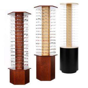 Quality Customized Wooden Sunglasses Rack , Eyewear Display Stand Floor Standing wholesale
