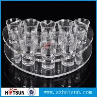 Quality acrylic beer tasting tray holder / acrylic tray cup holder / acrylic shot glass tray for bar wholesale