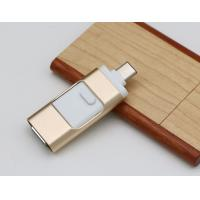Buy cheap Metal 3 In 1 Type C Lightning USB Flash Drive for iPhone / Android Mobile / USB from wholesalers