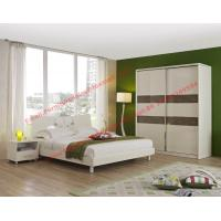 Quality Popular hotel style apartment use MDF melamine panel furniture in bunk bed and siliding door wardrobe wholesale
