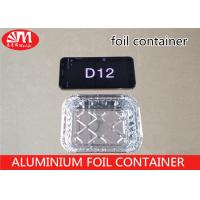 China Recyclable D12 Tin Foil Take Out Containers220ml Volume Aluminium Disposable Trays on sale