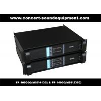 Quality PA Sound Equipment , 4x1300W 8ohm High Power Output Switching Amplifier FP 10000Q wholesale