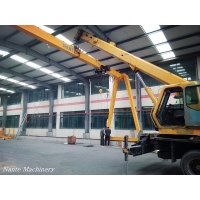 Quality Single Girder EOT Crane Capacity 7.5ton Span 20m In Workshop With Remote Control wholesale