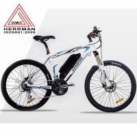 Quality Carbon Fiber Frame Off Road Electric Mountain Bikes With 48V 10.4Ah Lithium Battery wholesale