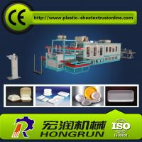 China Full Automatic Plastic Foam Disposable Plate Making Machinery For Fast Food Container on sale