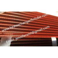 Quality Tension Wound Single Row Flat Fin Tube For Air Cooled Condenser wholesale