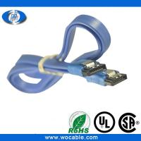 China flat Sata data cable 3.0 with latch 6Gbps sata cable on sale