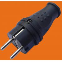 Buy cheap 2P+E 16A 250V~TPE rubber Black EU Germany standard Industrial power plug(P6051) from wholesalers