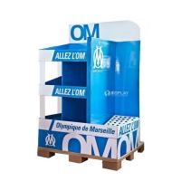 Quality Creative Pop Advertisement Display Stands , Exhibition Cardboard Display Shelves wholesale