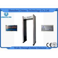 Quality 6 Zone 5 No Count Led Walkthrough Metal Detector Door Frame For Security wholesale