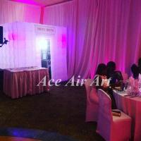 Quality color changing led lighting inflatable photo booth cube booth favor for wedding and events wholesale
