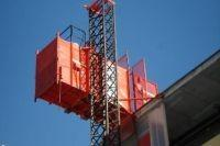 China CE, ISO China Red Telescopic lift platform / Single Cage Construction Hoist Load 2000kg on sale