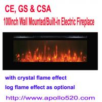 """Buy cheap 100"""" Linear Electric Fireplace Heater Wall Mounted from wholesalers"""