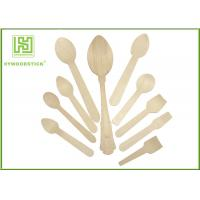 Quality Healthy Disposable Wooden Cutlery Dinner Ice Cream Spoons In Different Shapes wholesale