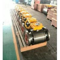 Quality ANSI Class 150 Flanged End Ball Valve Gear Operated Forged Steel A105 LF2 wholesale