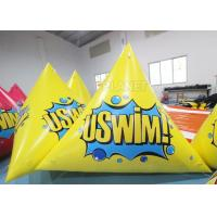 Quality Triangle 2.5m Inflatable Marker Buoy Hot Air Welding UV Resistant wholesale