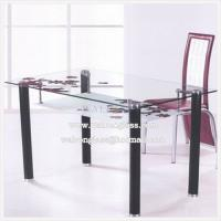 Quality Modern Simple Clear Table Top Glass with Picture wholesale