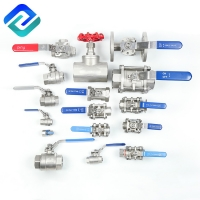China 1PC 2PC 3PC Stainless Steel Investment Casting Ball Valve on sale