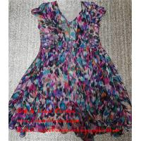 Quality Hebei Factory Stock Second Hand Ladies Dresses Used Printed Pure Silk Skirt wholesale